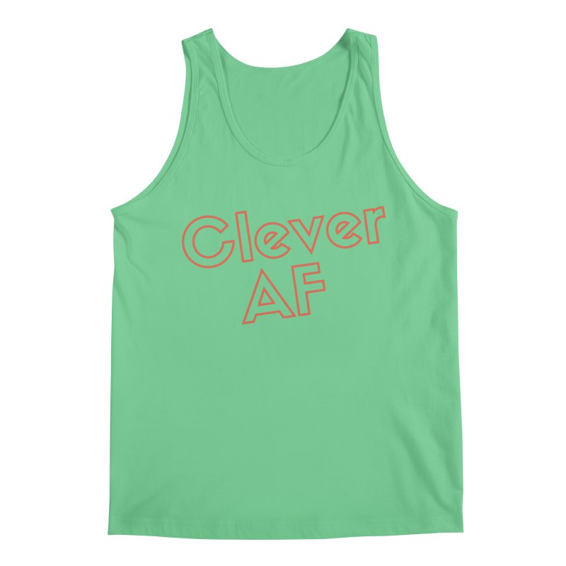 Clever AF Men's Regular Tank by Fun Things to Wear