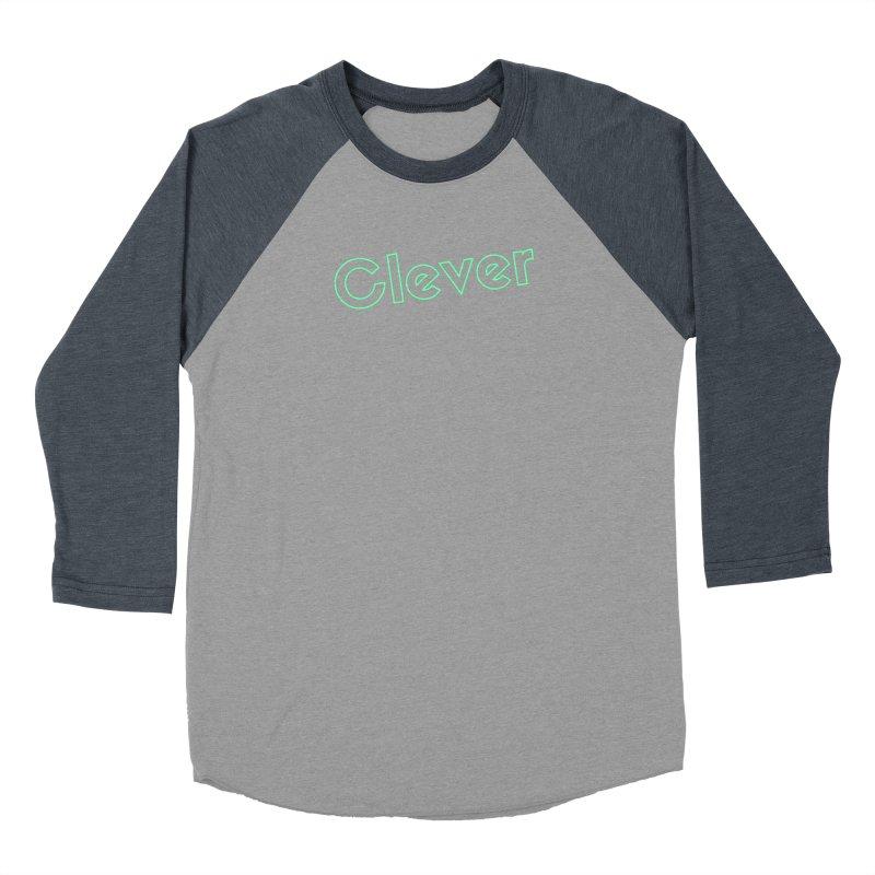 Clever Men's Baseball Triblend Longsleeve T-Shirt by Fun Things to Wear