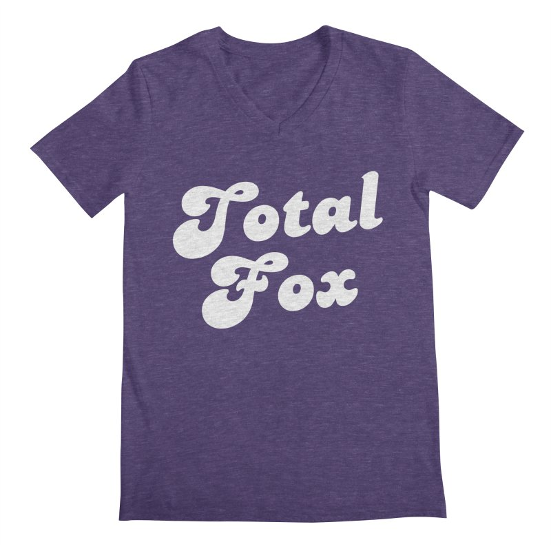 Total Fox Men's V-Neck by Fun Things to Wear