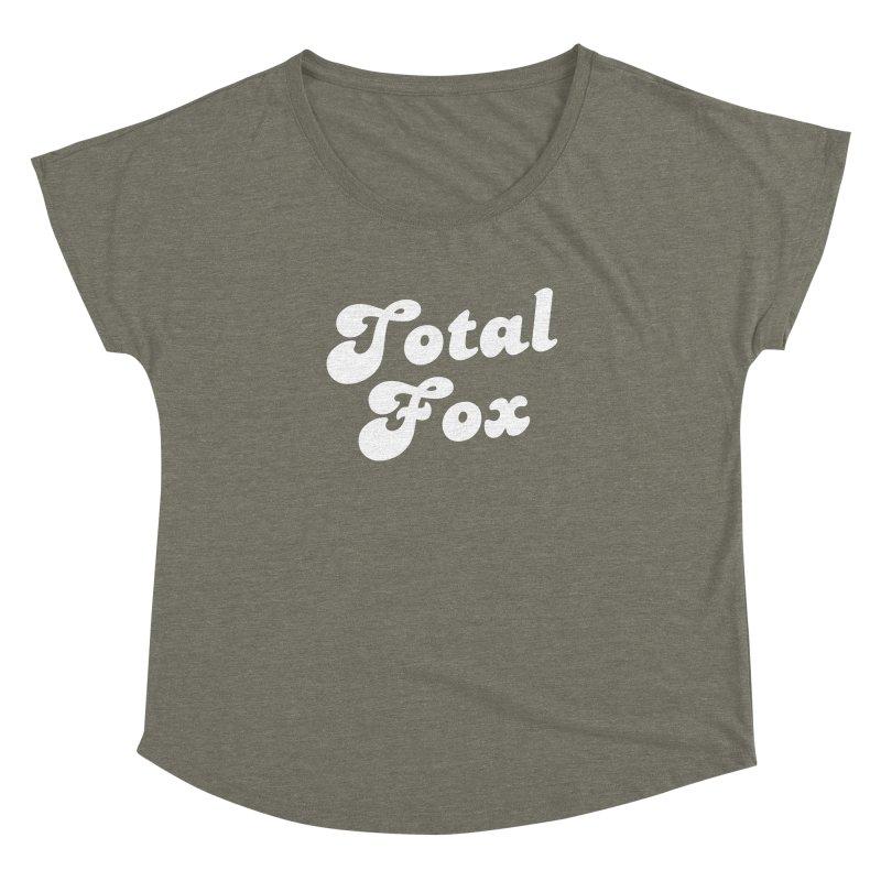 Total Fox Women's Dolman Scoop Neck by Fun Things to Wear