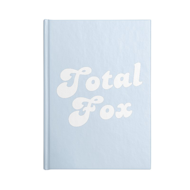 Total Fox Accessories Lined Journal Notebook by Fun Things to Wear