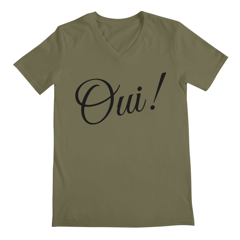 Yes.  Men's V-Neck by Fun Things to Wear