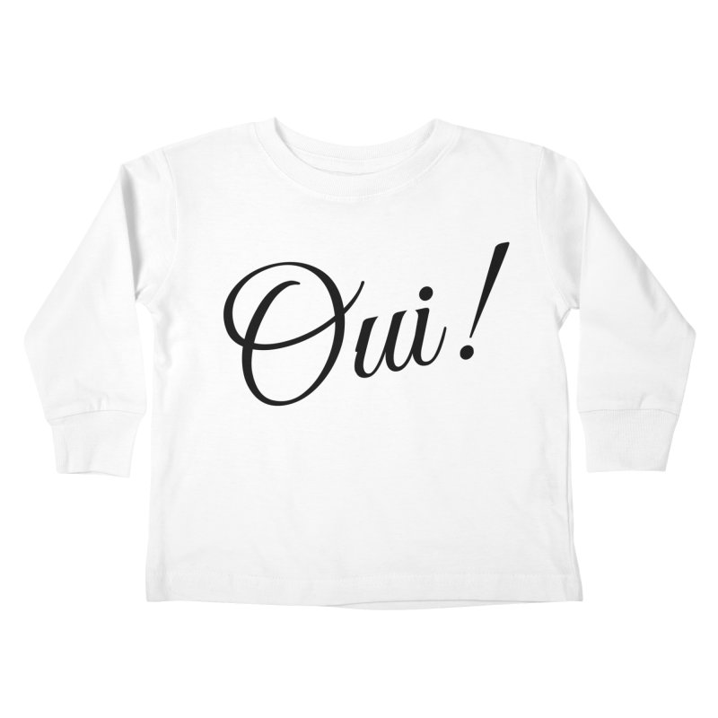 Yes.  Kids Toddler Longsleeve T-Shirt by Fun Things to Wear