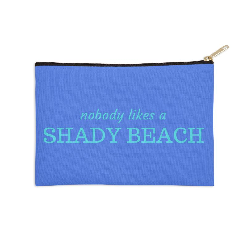 Shady Beach Accessories Zip Pouch by Fun Things to Wear