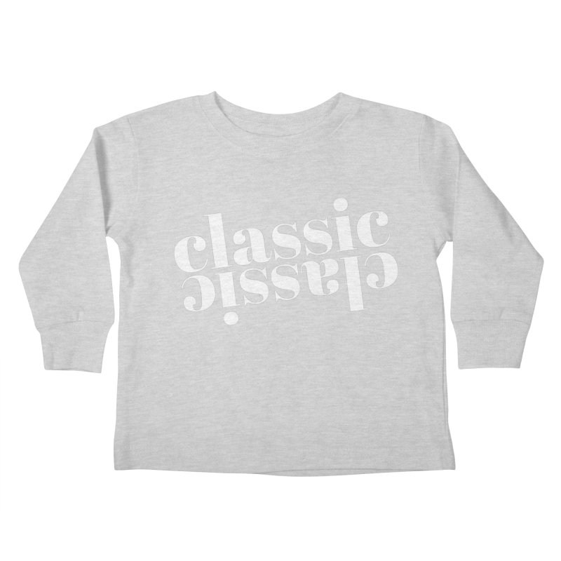 Classic.  Kids Toddler Longsleeve T-Shirt by Fun Things to Wear
