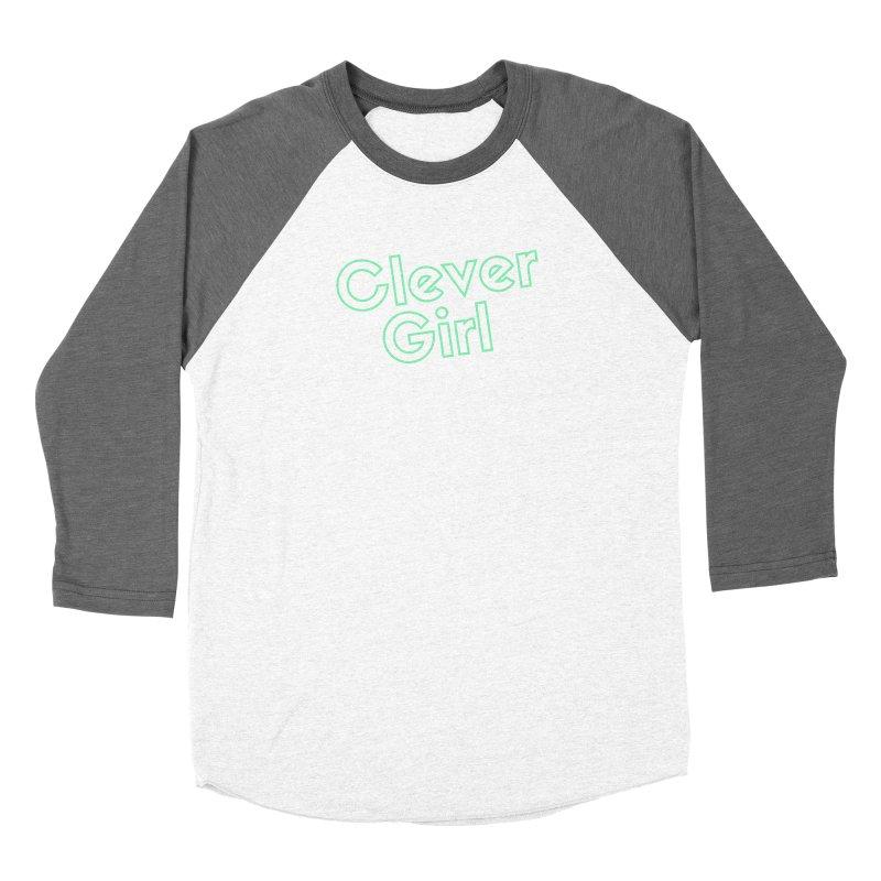 Clever Girl Men's Baseball Triblend Longsleeve T-Shirt by Fun Things to Wear