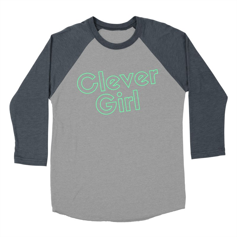 Clever Girl Women's Baseball Triblend Longsleeve T-Shirt by Fun Things to Wear