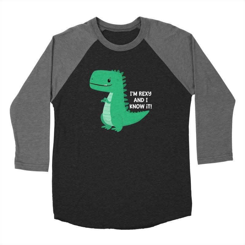 Rexy T-rex Women's Longsleeve T-Shirt by FunUsual Suspects T-shirt Shop