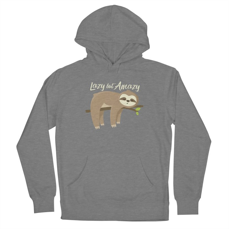 Lazy but Amazy Men's Pullover Hoody by FunUsual Suspects T-shirt Shop