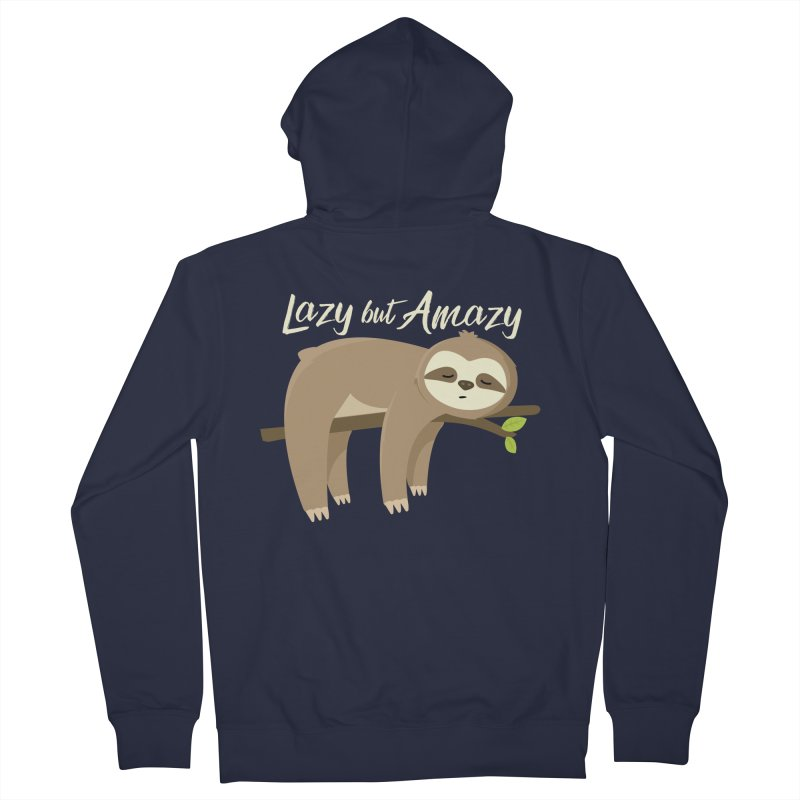 Lazy but Amazy Women's Zip-Up Hoody by FunUsual Suspects T-shirt Shop