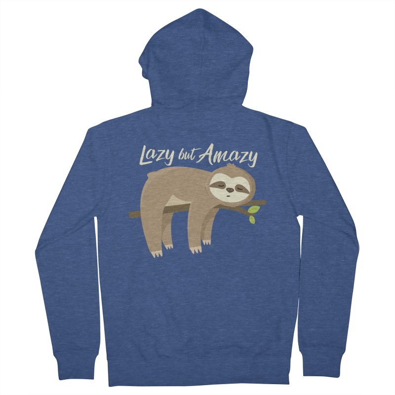 Lazy but Amazy Men's Zip-Up Hoody by FunUsual Suspects T-shirt Shop