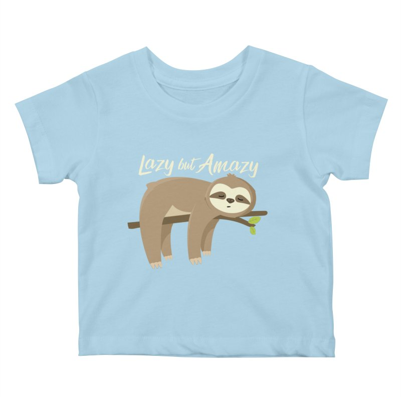 Lazy but Amazy Kids Baby T-Shirt by FunUsual Suspects T-shirt Shop