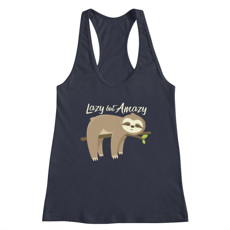 Lazy but Amazy Women's Tank by FunUsual Suspects T-shirt Shop