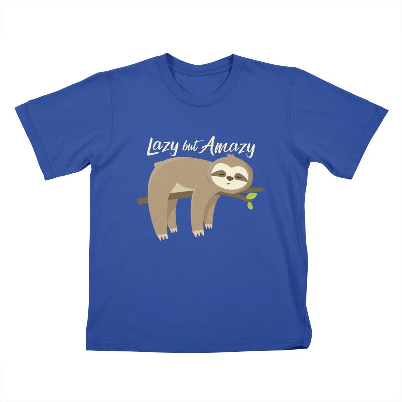 Lazy but Amazy Kids T-Shirt by FunUsual Suspects T-shirt Shop