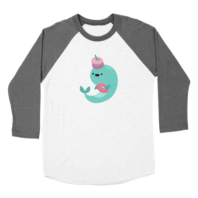 Donut Narwhal Women's Longsleeve T-Shirt by FunUsual Suspects T-shirt Shop