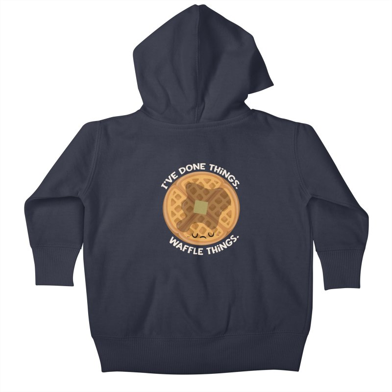Waffle Things Kids Baby Zip-Up Hoody by FunUsual Suspects T-shirt Shop