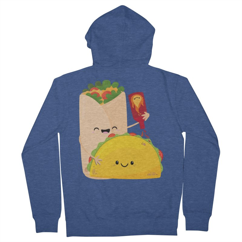 More Hot Sauce Please Men's Zip-Up Hoody by FunUsual Suspects T-shirt Shop