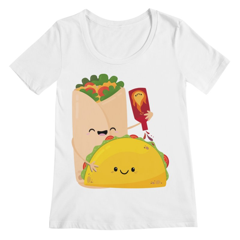 More Hot Sauce Please Women's Regular Scoop Neck by FunUsual Suspects T-shirt Shop