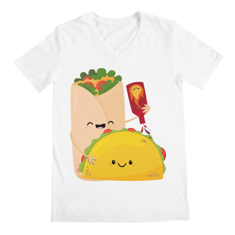 More Hot Sauce Please Men's V-Neck by FunUsual Suspects T-shirt Shop