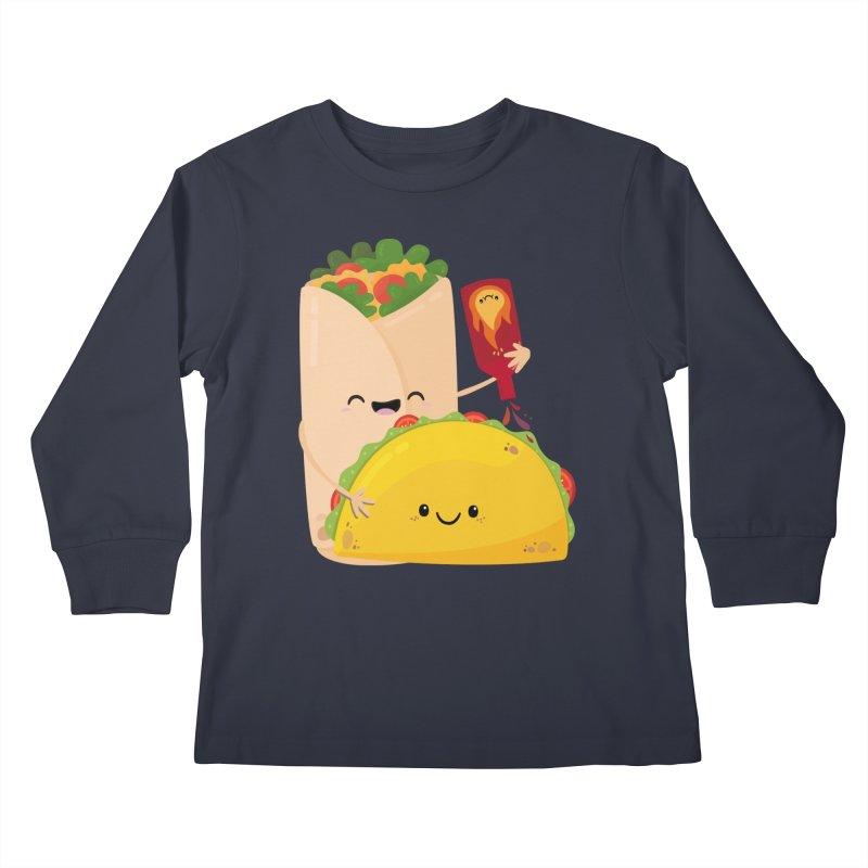 More Hot Sauce Please Kids Longsleeve T-Shirt by FunUsual Suspects T-shirt Shop