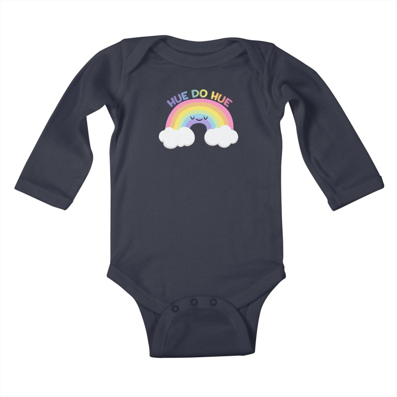 Hue Do Hue Kids Baby Longsleeve Bodysuit by FunUsual Suspects T-shirt Shop