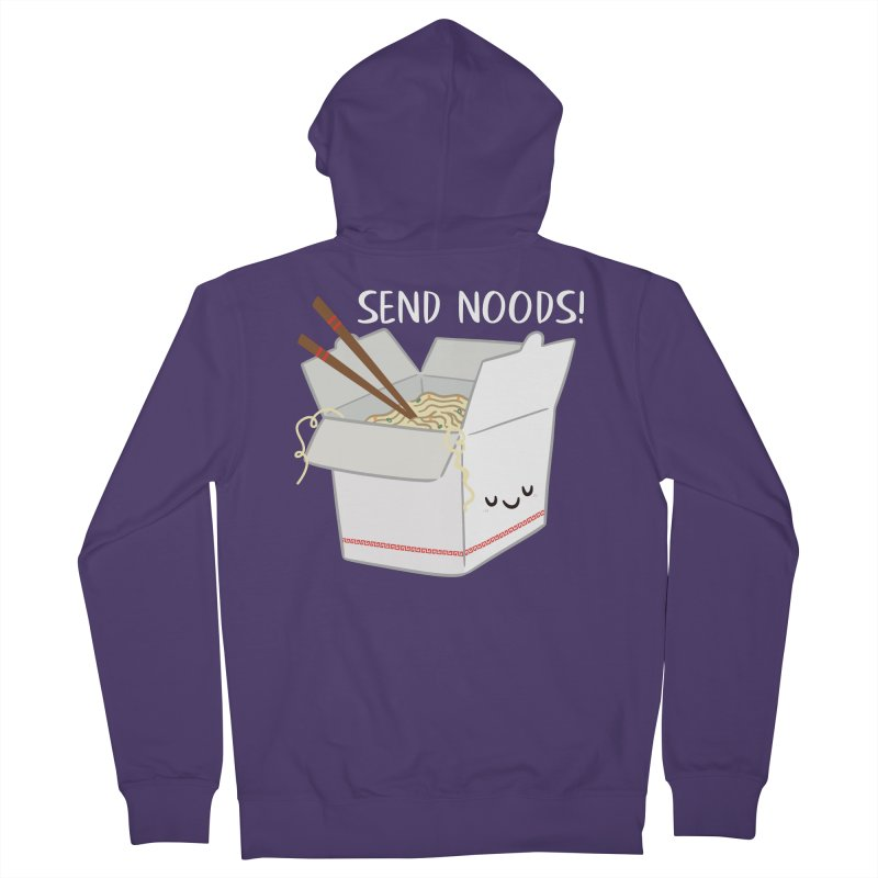 Send Noods Women's Zip-Up Hoody by FunUsual Suspects T-shirt Shop