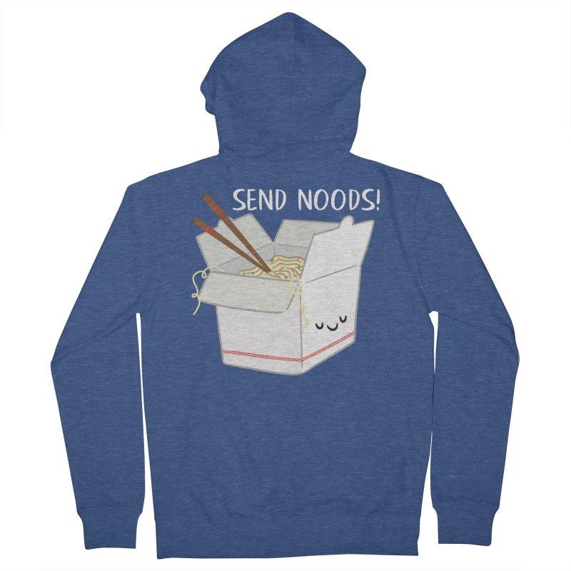 Send Noods Men's Zip-Up Hoody by FunUsual Suspects T-shirt Shop