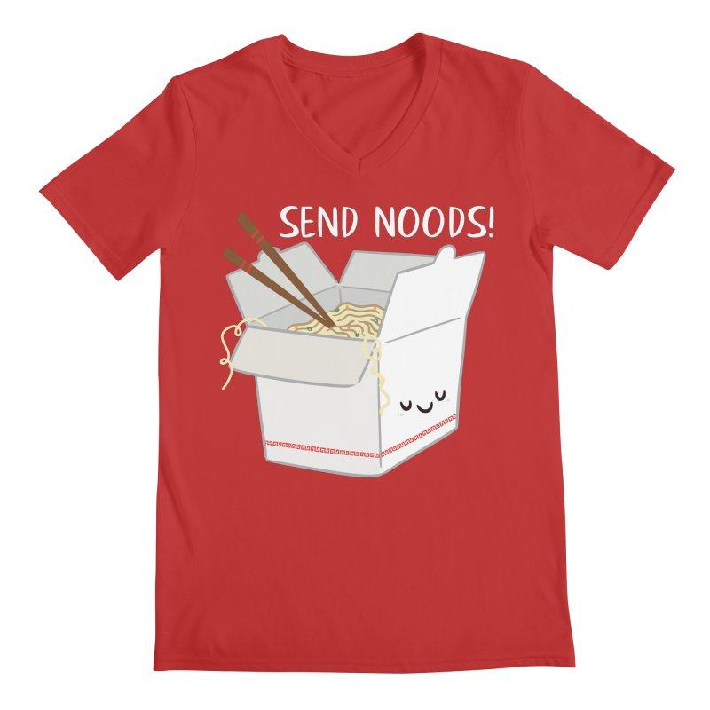 Send Noods Men's V-Neck by FunUsual Suspects T-shirt Shop