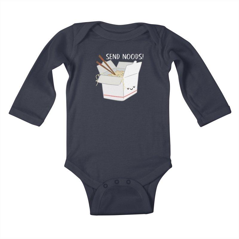 Send Noods Kids Baby Longsleeve Bodysuit by FunUsual Suspects T-shirt Shop
