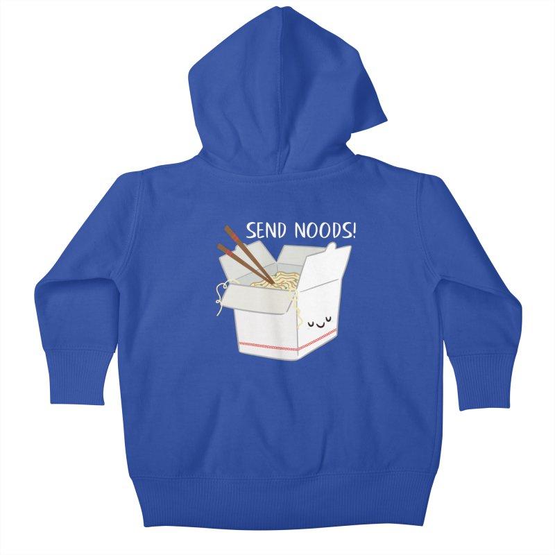 Send Noods Kids Baby Zip-Up Hoody by FunUsual Suspects T-shirt Shop