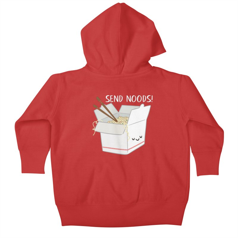 Send Noods Kids Baby Zip-Up Hoody by FunUsual Suspects T-shirt Shop