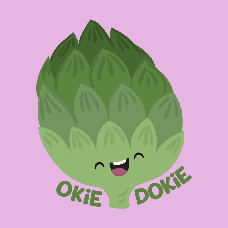 Okie Dokie Artichokie Women's V-Neck by FunUsual Suspects T-shirt Shop
