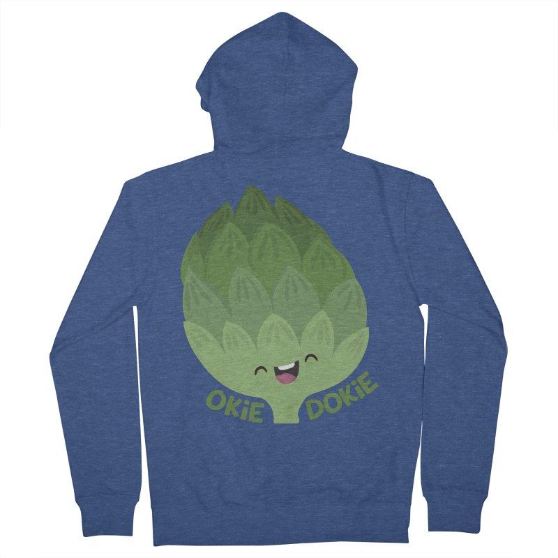 Okie Dokie Artichokie Men's Zip-Up Hoody by FunUsual Suspects T-shirt Shop