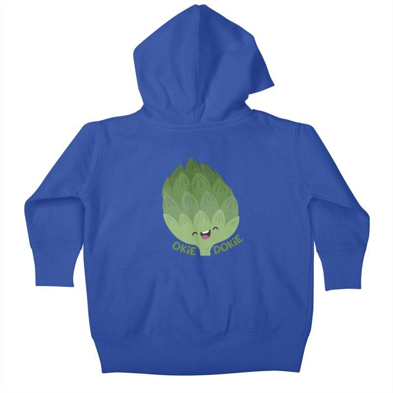 Okie Dokie Artichokie Kids Baby Zip-Up Hoody by FunUsual Suspects T-shirt Shop