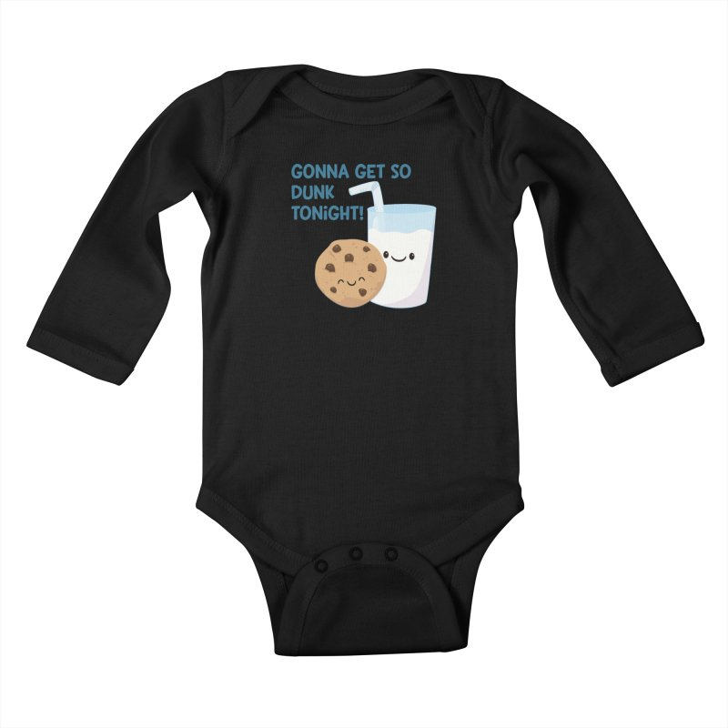 Gonna Get So Dunk Tonight! Kids Baby Longsleeve Bodysuit by FunUsual Suspects T-shirt Shop