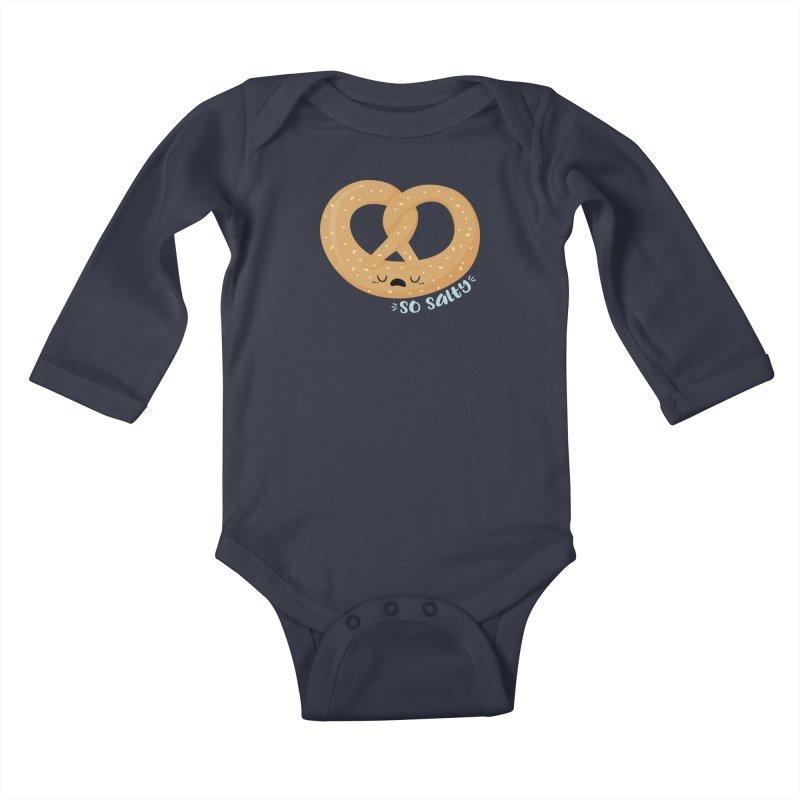 So Salty Kids Baby Longsleeve Bodysuit by FunUsual Suspects T-shirt Shop