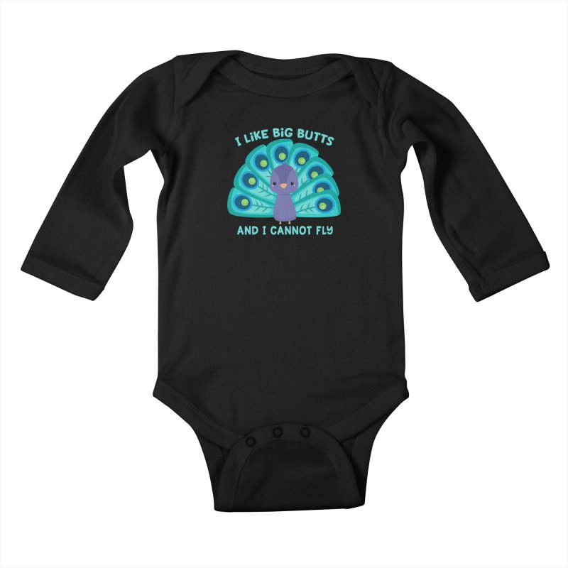 I Cannot Fly Kids Baby Longsleeve Bodysuit by FunUsual Suspects T-shirt Shop
