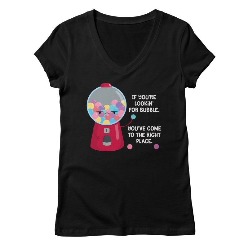 Looking for Bubble? Women's V-Neck by FunUsual Suspects T-shirt Shop