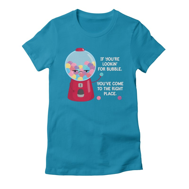 Looking for Bubble? Women's Fitted T-Shirt by FunUsual Suspects T-shirt Shop
