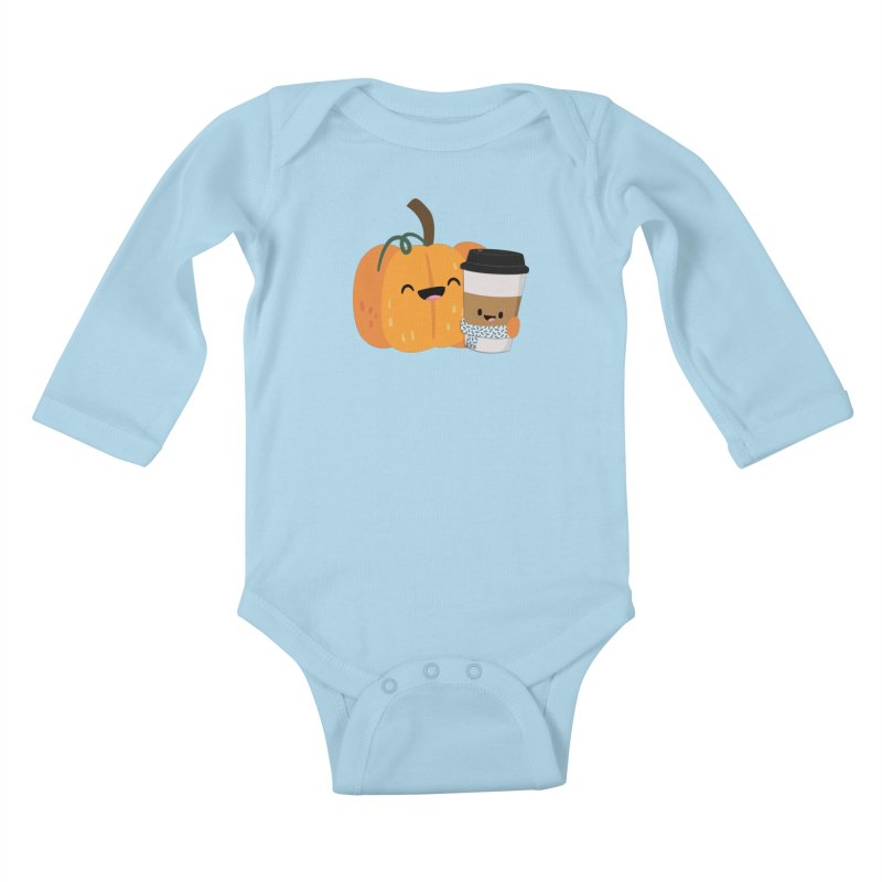 #pumpkinspicelife Kids Baby Longsleeve Bodysuit by FunUsual Suspects T-shirt Shop