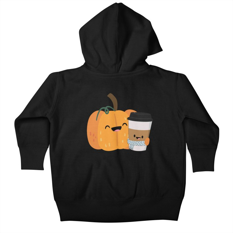 #pumpkinspicelife Kids Baby Zip-Up Hoody by FunUsual Suspects T-shirt Shop