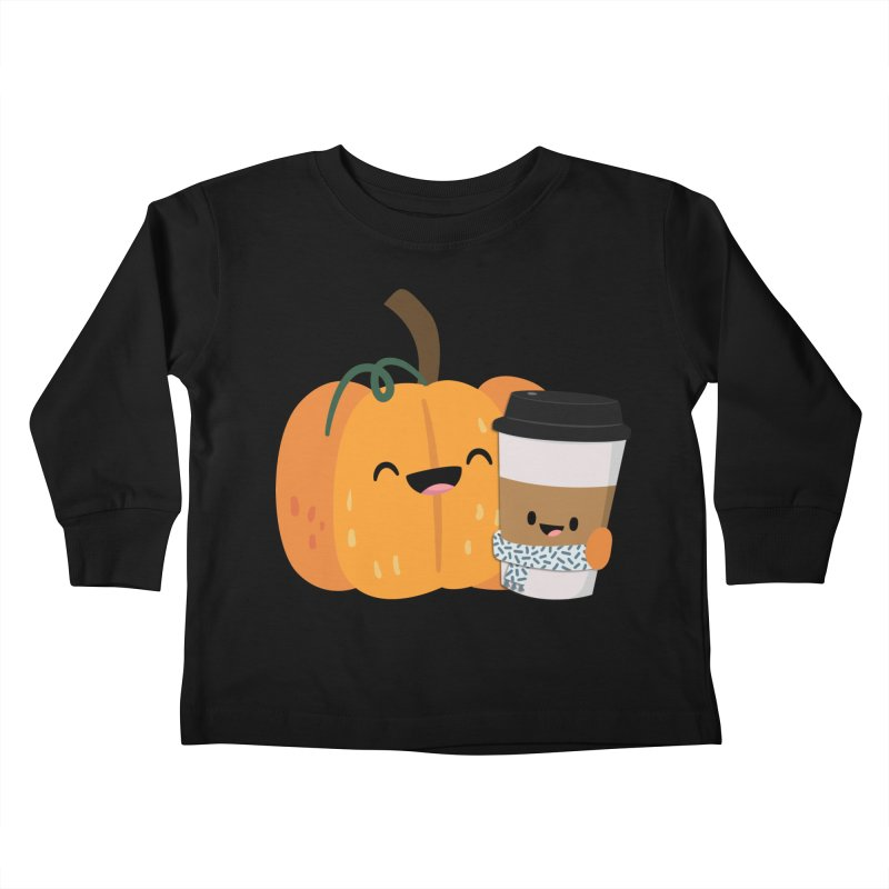 #pumpkinspicelife Kids Toddler Longsleeve T-Shirt by FunUsual Suspects T-shirt Shop