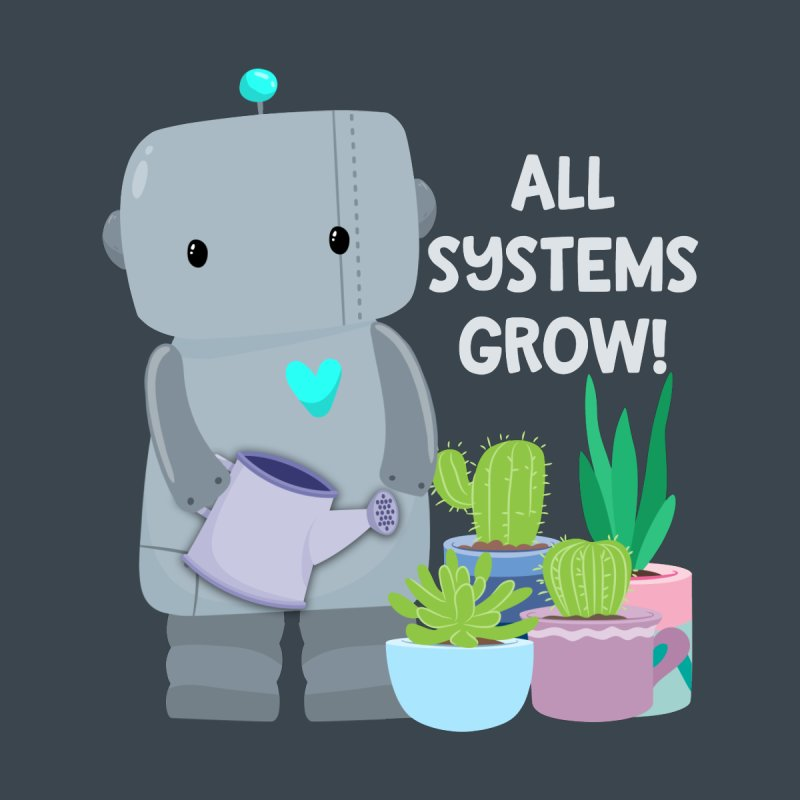All Systems Grow! Kids Pullover Hoody by FunUsual Suspects T-shirt Shop
