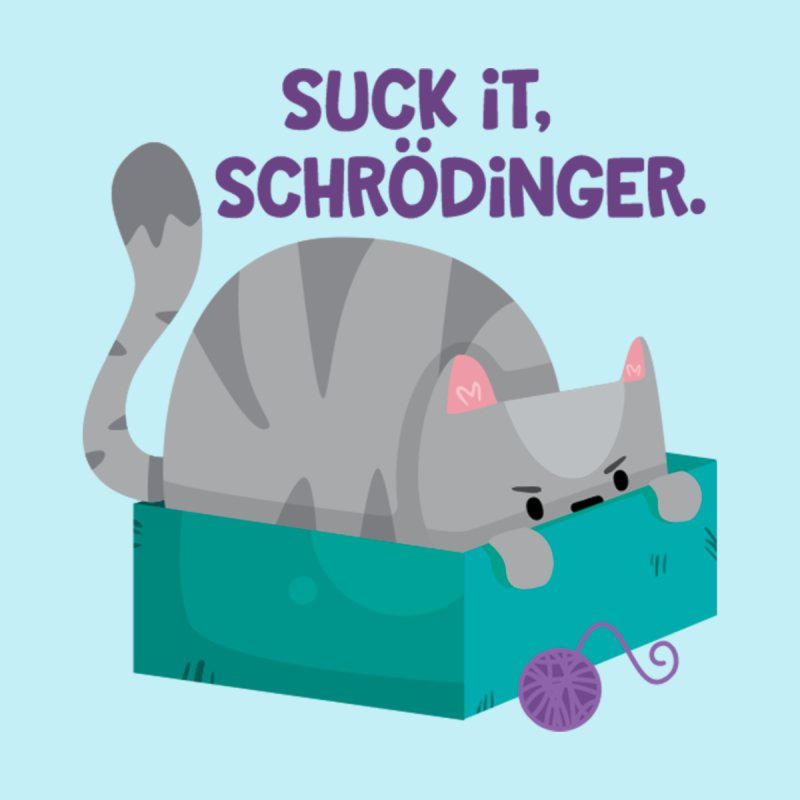 Suck it Schrödinger Men's Pullover Hoody by FunUsual Suspects T-shirt Shop