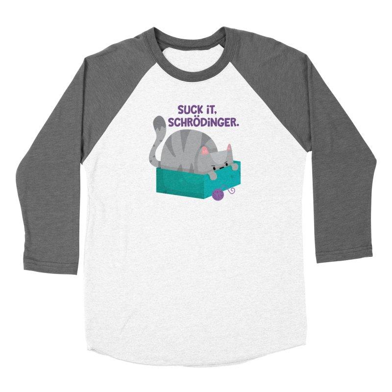 Suck it Schrödinger Men's Baseball Triblend Longsleeve T-Shirt by FunUsual Suspects T-shirt Shop