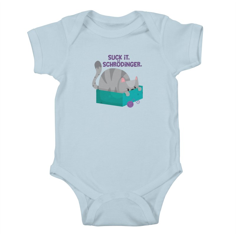 Suck it Schrödinger Kids Baby Bodysuit by FunUsual Suspects T-shirt Shop