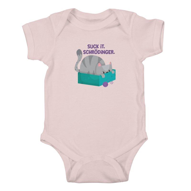 Suck it Schrödinger Kids Baby Bodysuit by FunUsual Suspects T-shirt Shop