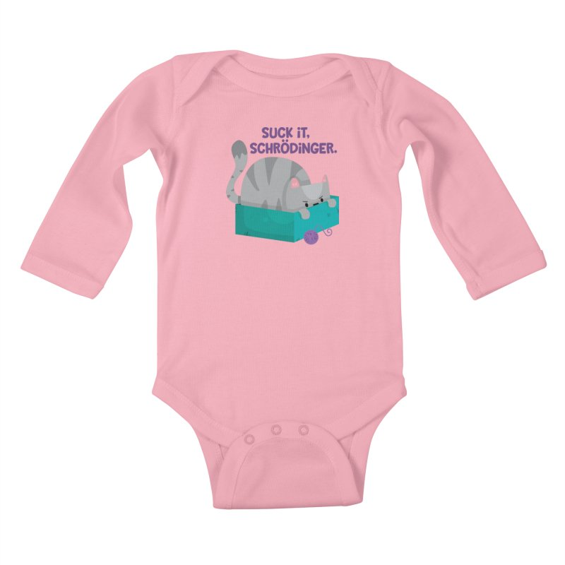 Suck it Schrödinger Kids Baby Longsleeve Bodysuit by FunUsual Suspects T-shirt Shop