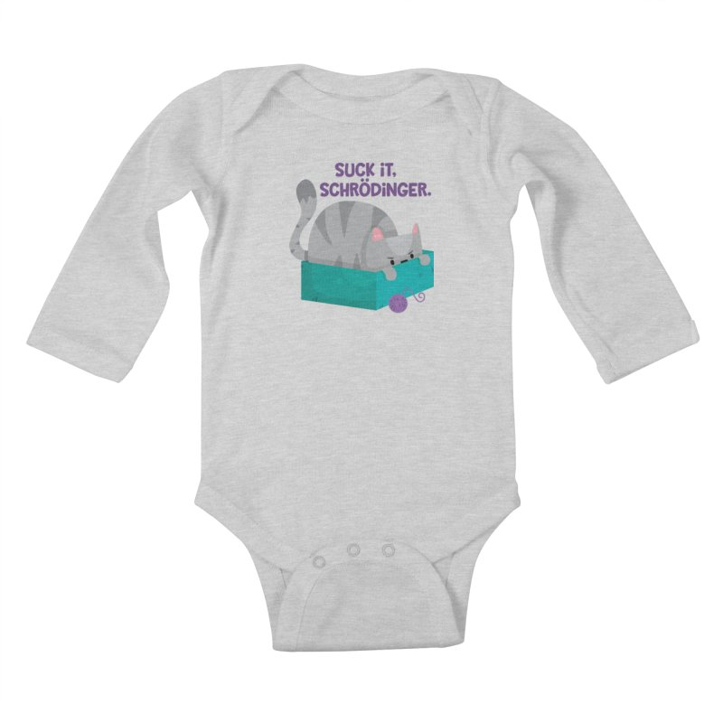 Suck it Schrödinger Kids Baby Longsleeve Bodysuit by FunUsual Suspects T-shirt Shop