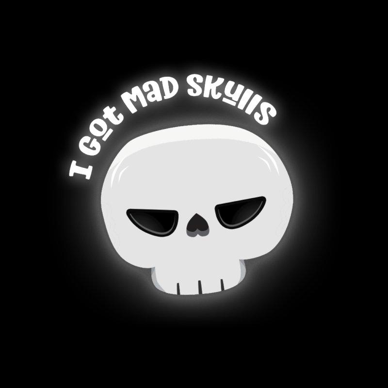 I Got Mad Skulls Men's V-Neck by FunUsual Suspects T-shirt Shop